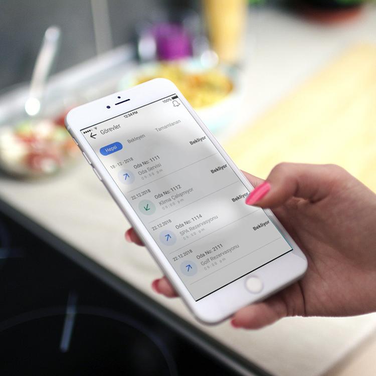 Anket Oluşturma  mobil otel yönetim sistemi
