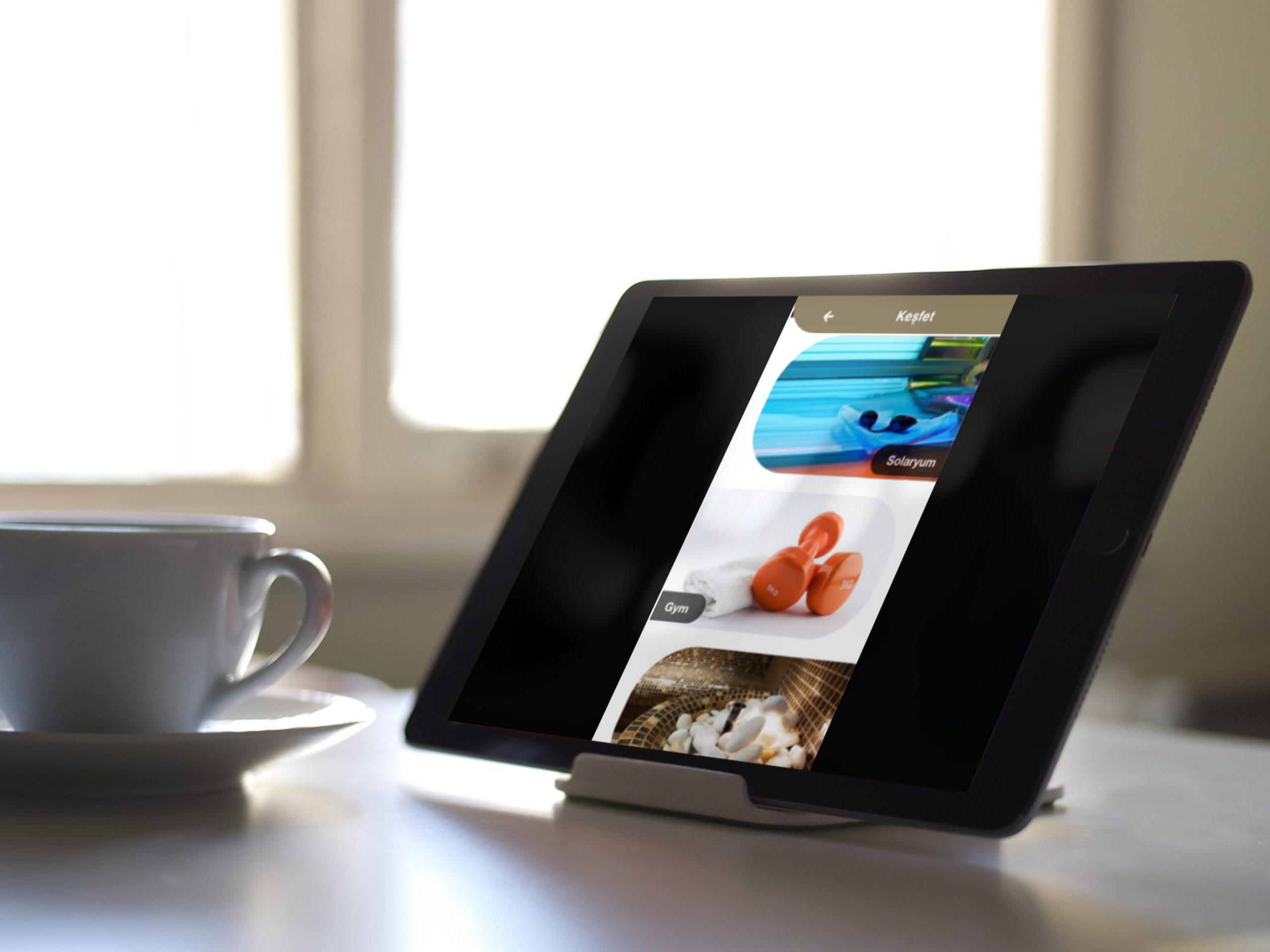 Kioks-Tablet Desteği  mobil otel yönetim sistemi