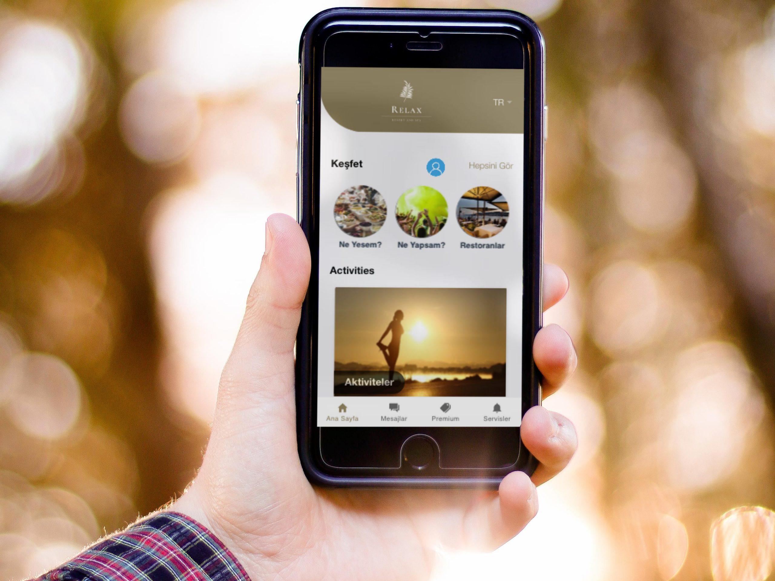Sipariş Verme  mobil otel yönetim sistemi