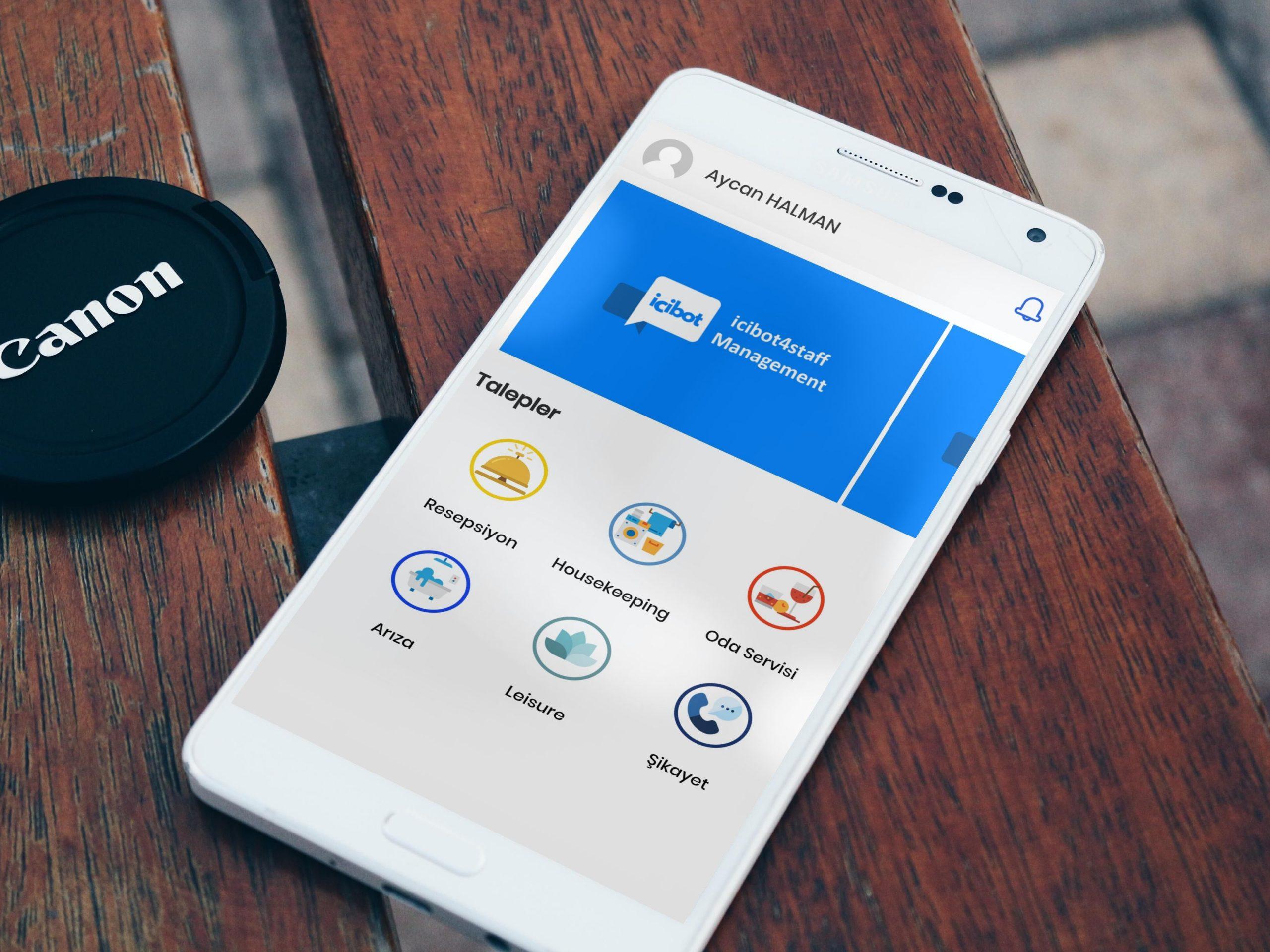 Anlık Talep Çözümü (staff app)  mobil otel yönetim sistemi