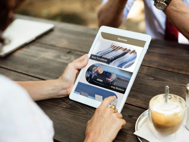 Misafir İle İletişim mobil otel yönetim sistemi